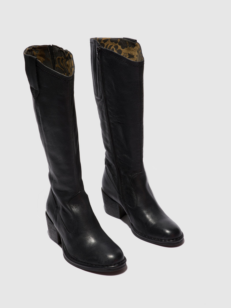 Zip Up Boots LEON236FLY VERONA BLACK