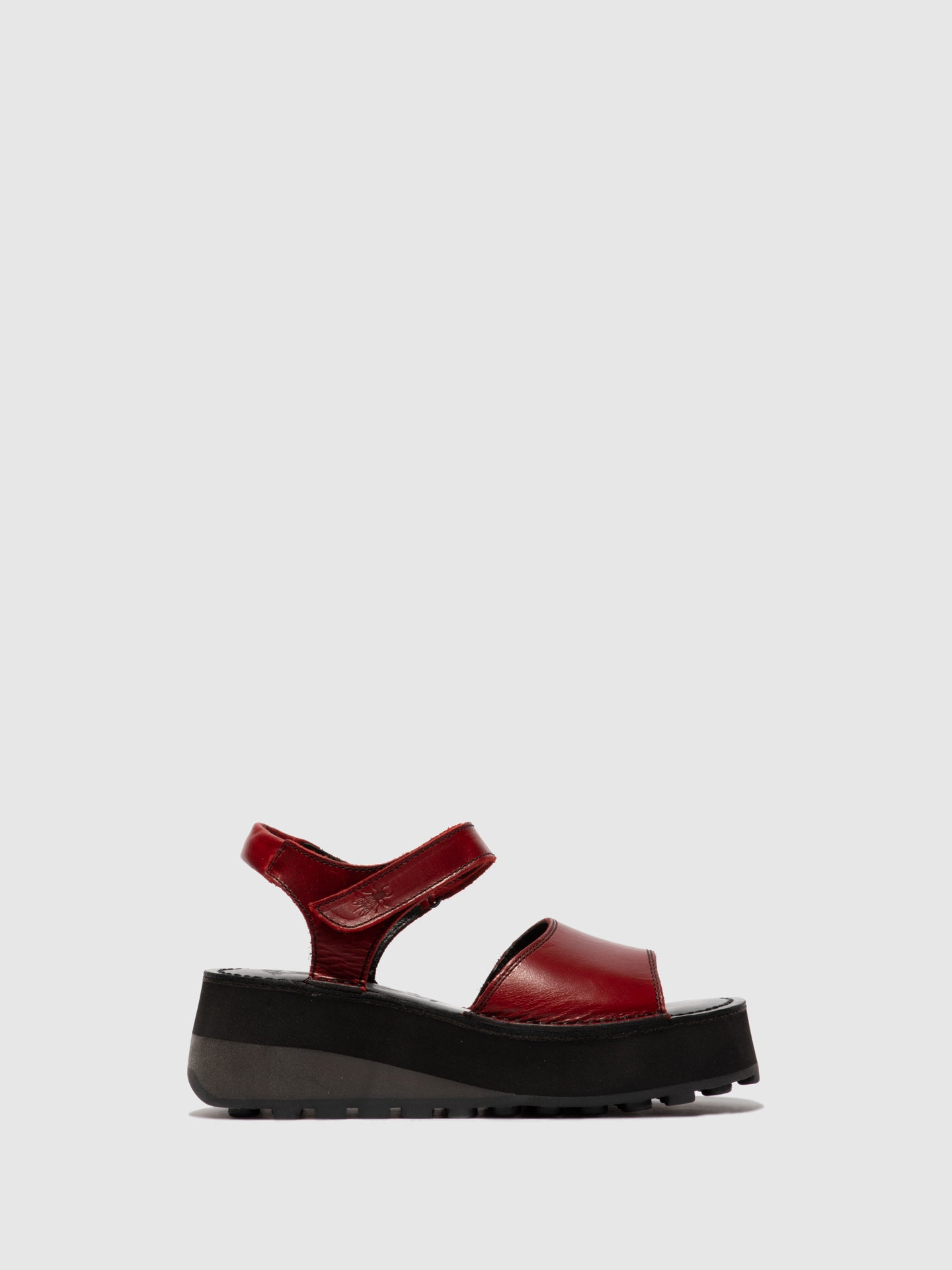 Fly London Velcro Sandals HOST483FLY RED/BLACK