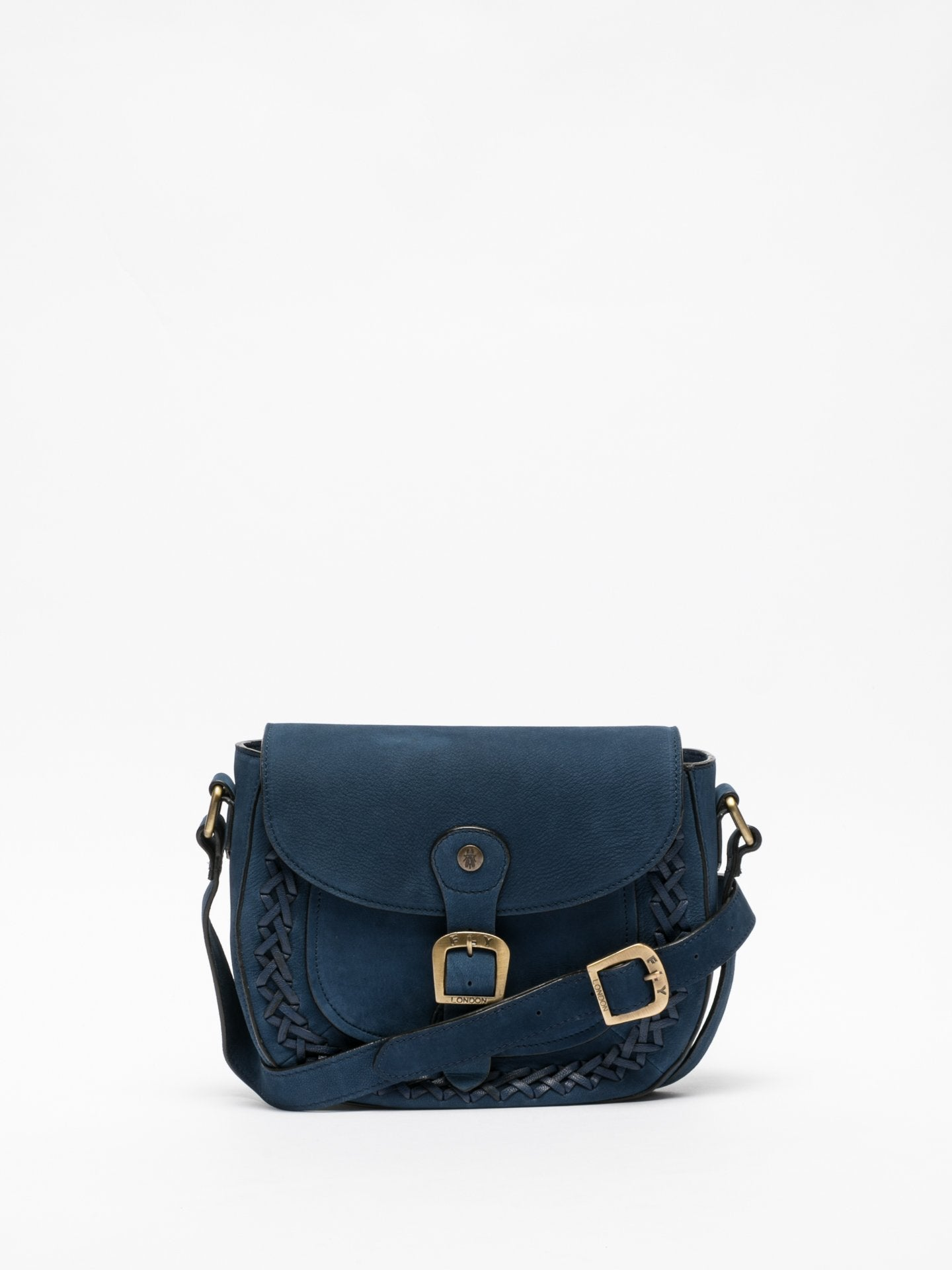 Fly London Blue Crossbody Bags