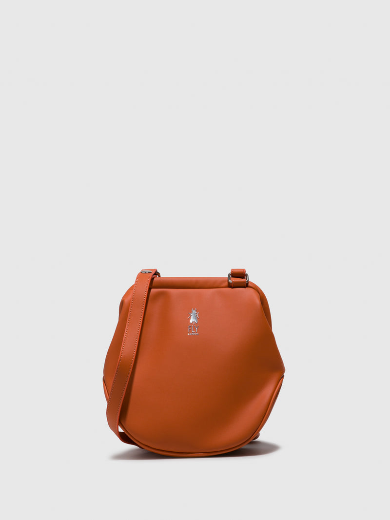 Fly London Shoulder Bags BICA712FLY DARWIN DK.ORANGE