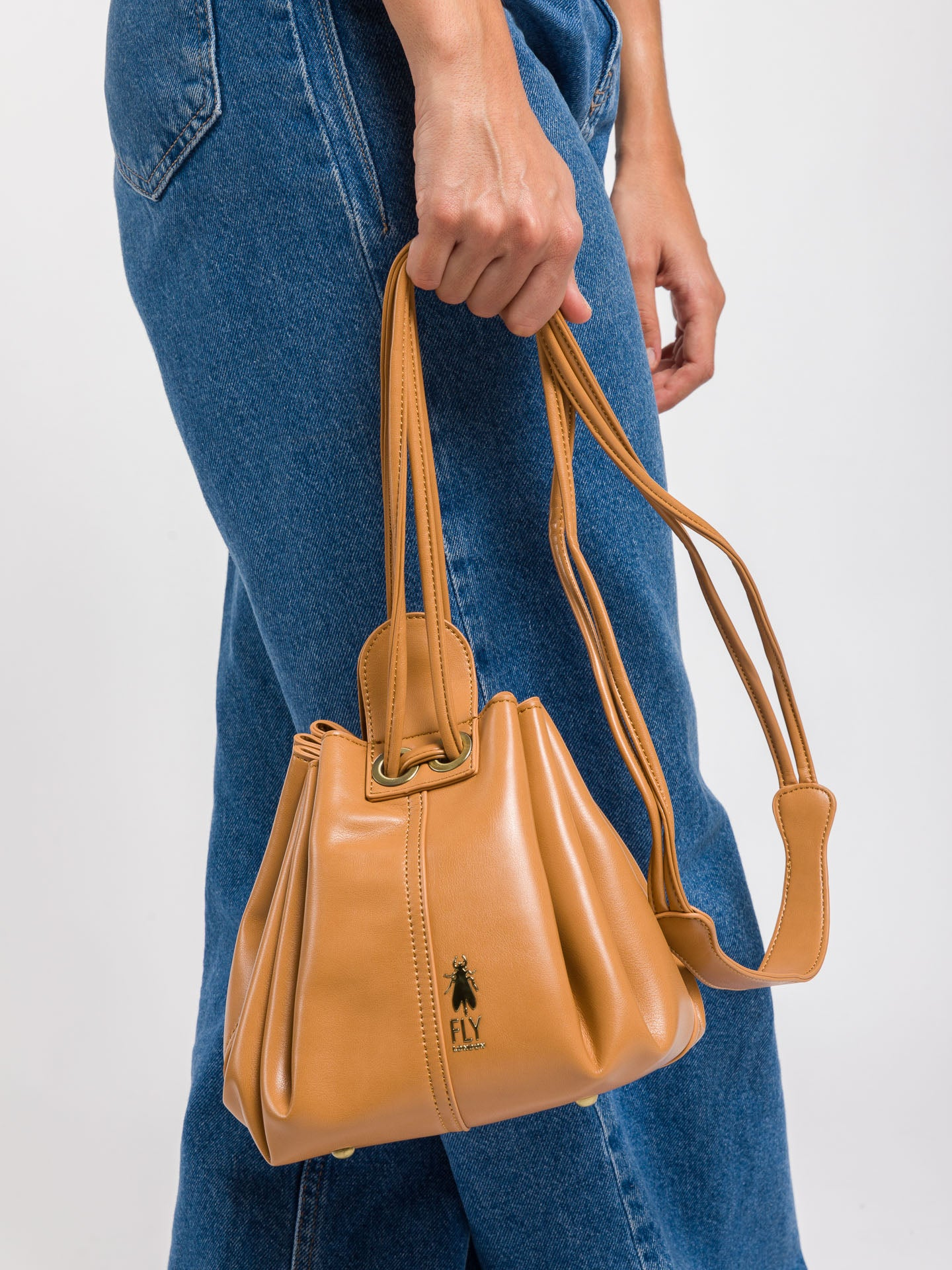 Fly London Shoulder Bags BIMY713FLY CERVANTES CAMEL