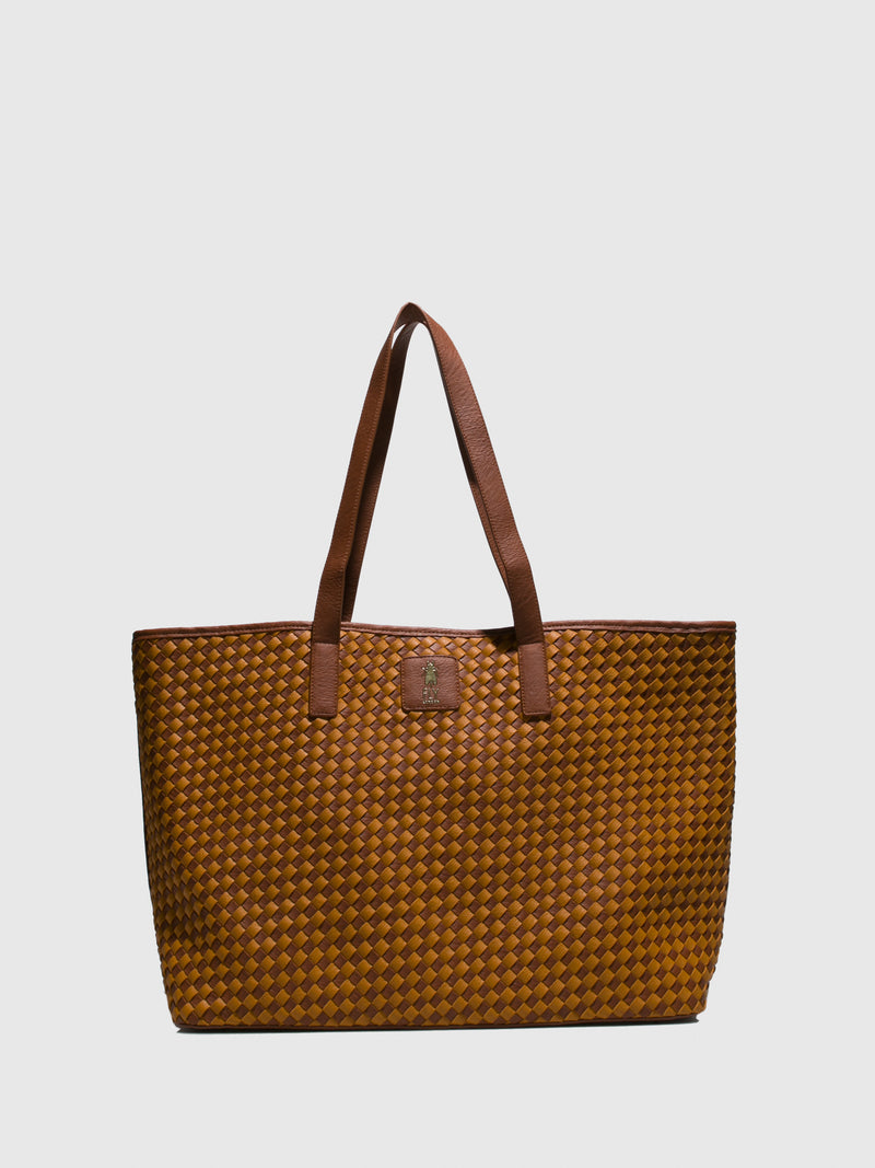 Fly London Tote Bags BEAS719FLY VERNE CAMEL/DK.BROWN