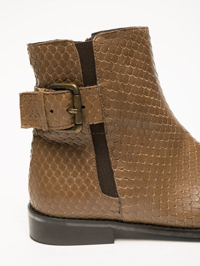 Foreva Tan Buckle Ankle Boots