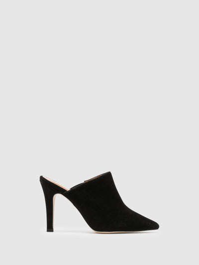 Foreva Black Pointed Toe Mules