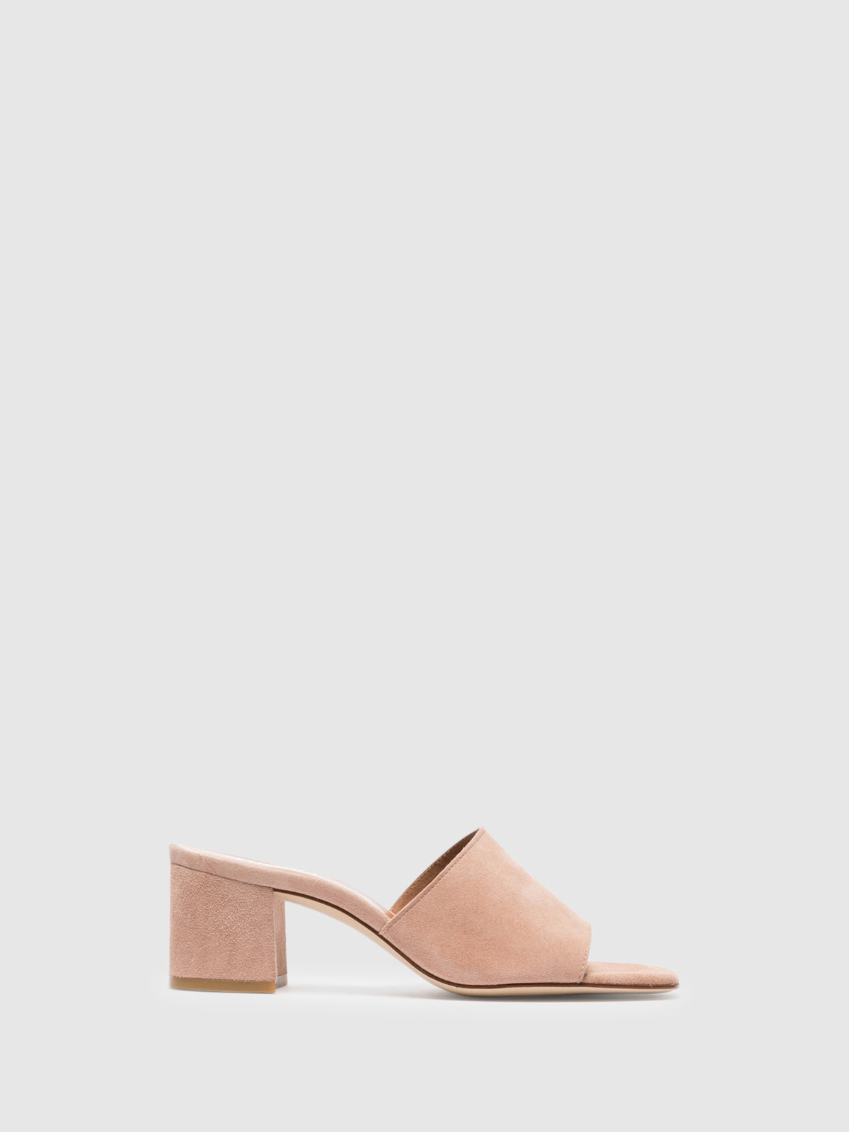 Foreva Pink Open Toe Mules