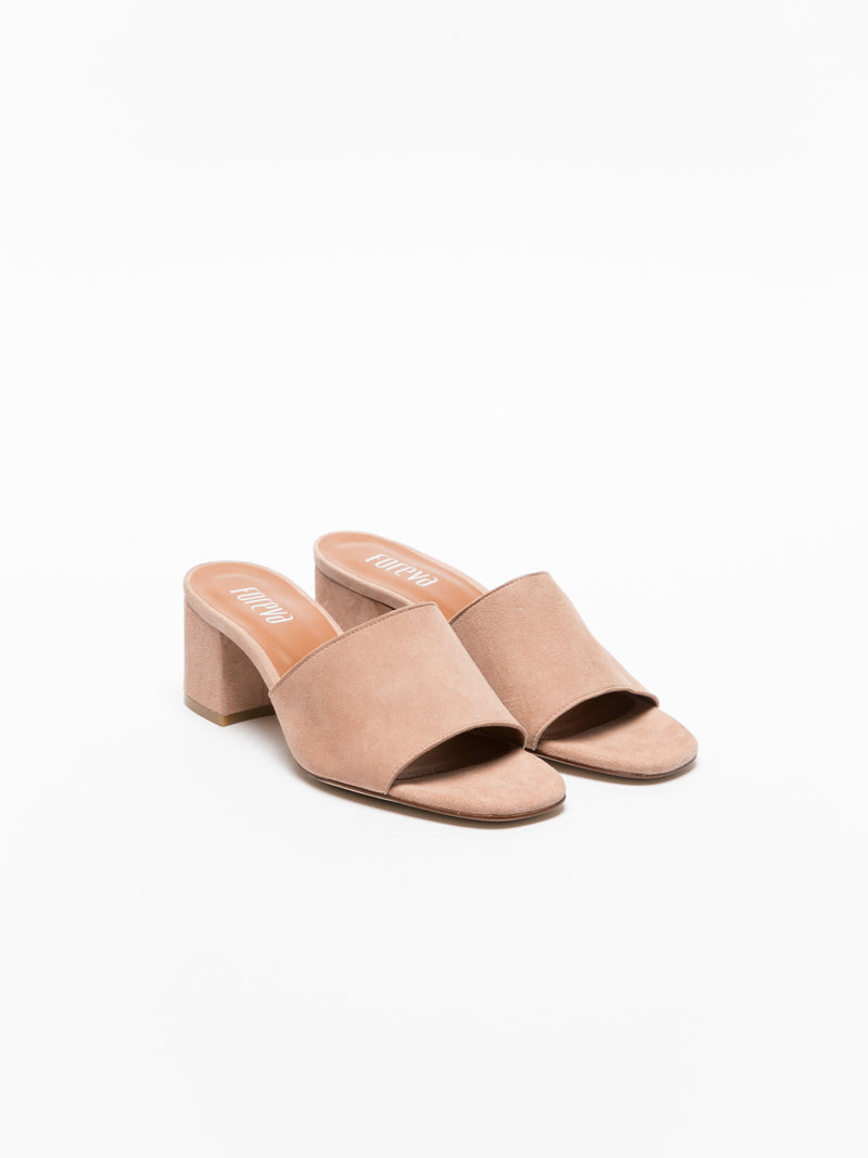 Pink Open Toe Mules