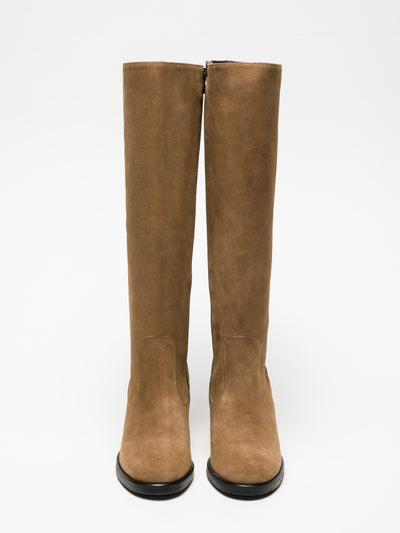 Foreva Tan Knee-High Boots