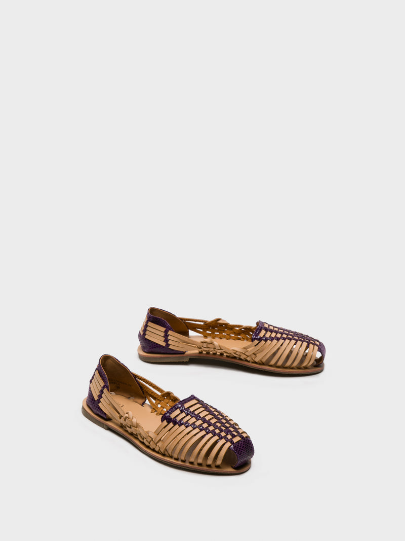 Purple Round Toe Espadrilles