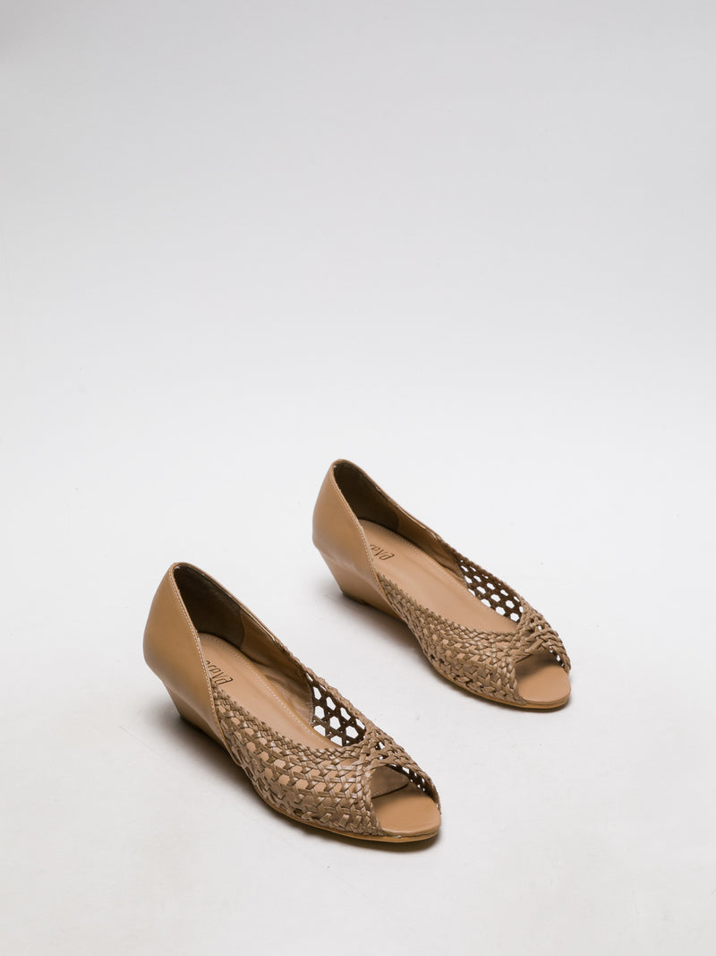 SandyBrown Wedge Shoes