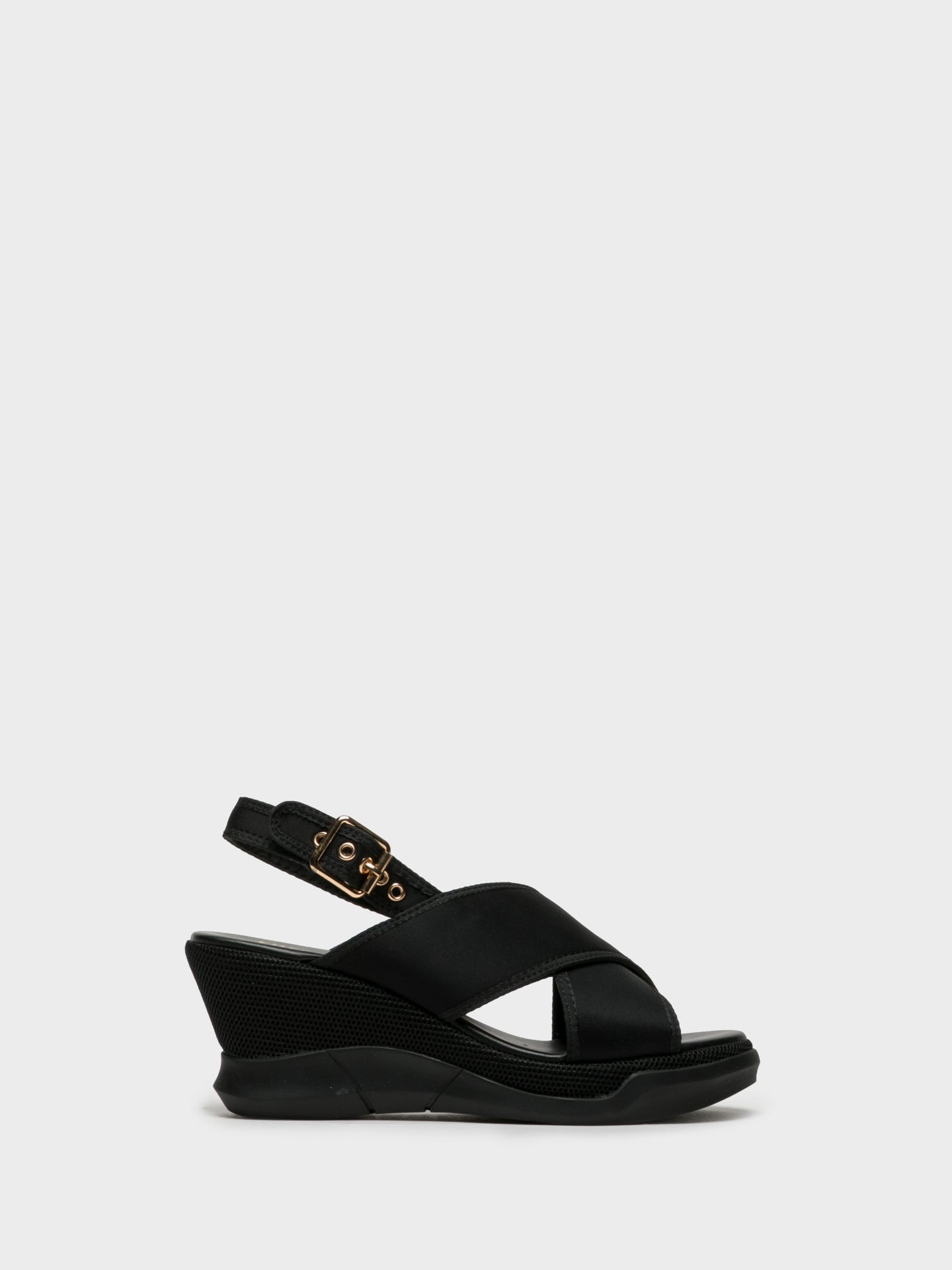 Foreva Black Buckle Sandals