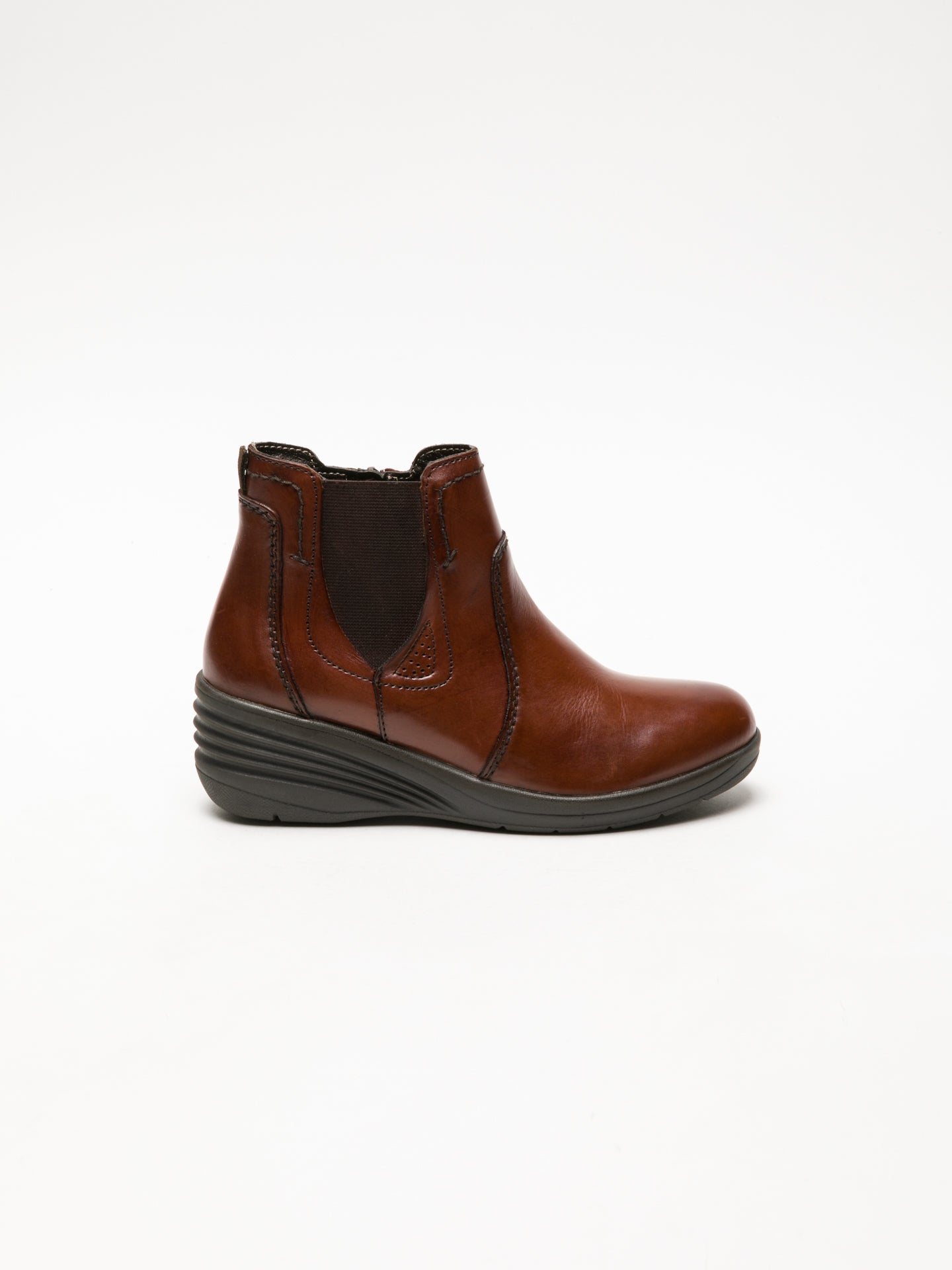 Foreva Brown Elasticated Ankle Boots