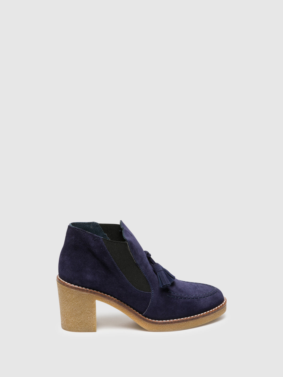 Foreva Blue Elasticated Ankle Boots