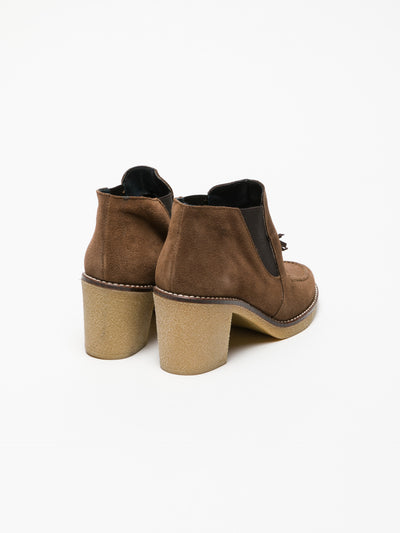 Foreva Tan Elasticated Ankle Boots