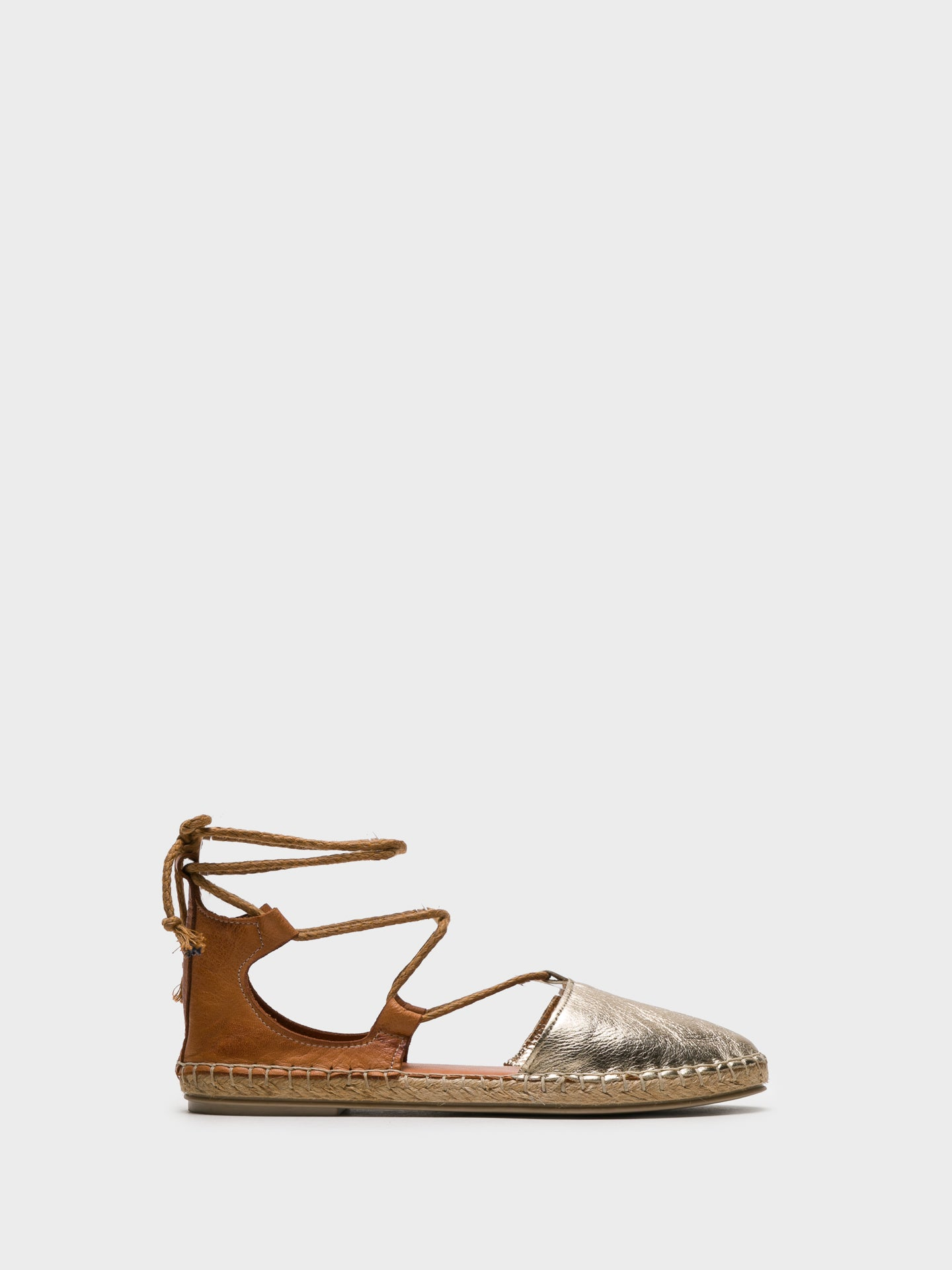 Foreva Brown Lace-up Espadrilles