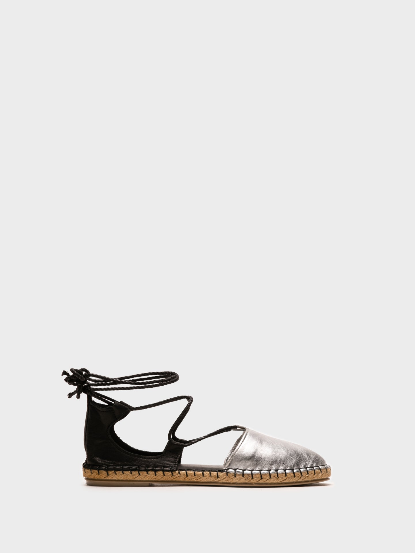 Foreva Black Lace-up Espadrilles