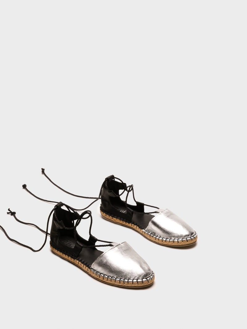 Black Lace-up Espadrilles