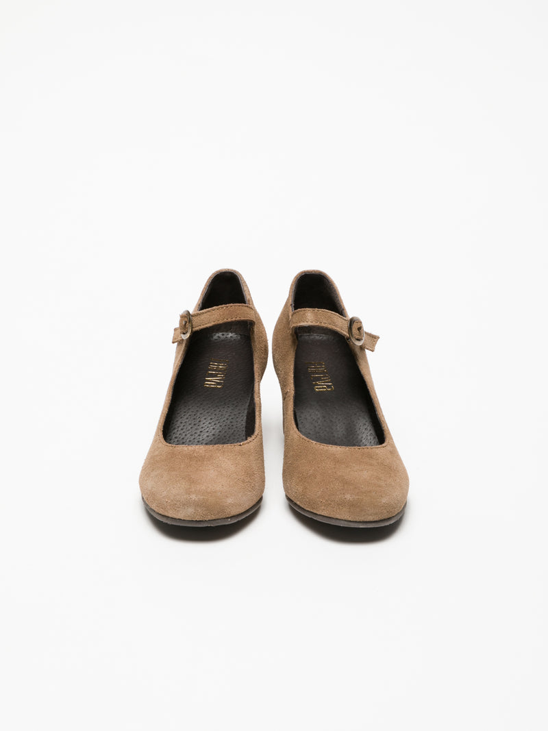 Tan Mary Jane Shoes