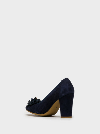 Foreva Blue Round Toe Pumps