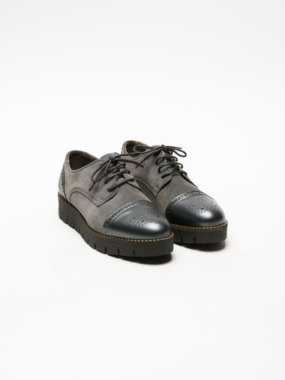 Foreva Gray Derby Shoes