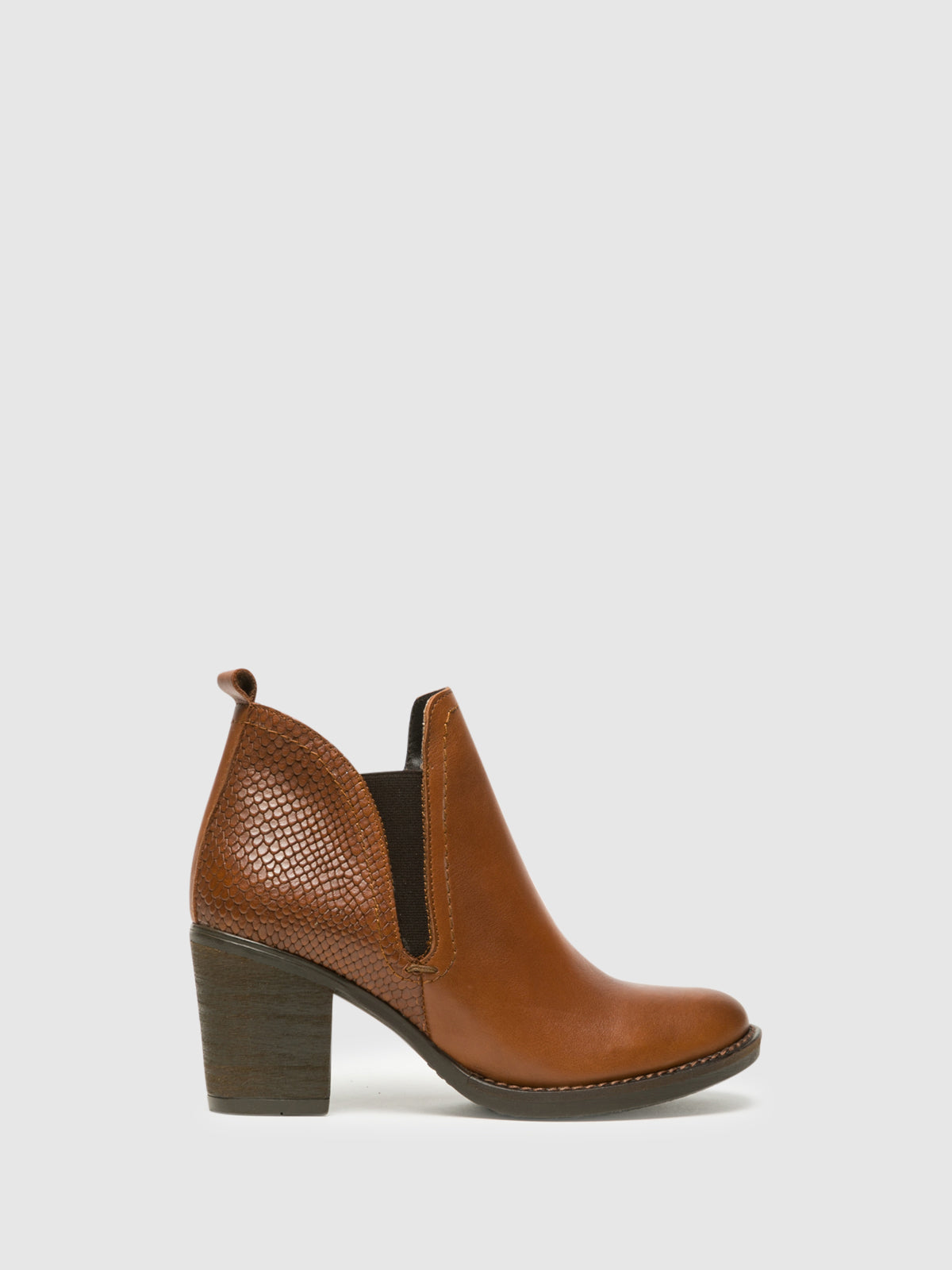 Foreva Brown Round Toe Ankle Boots