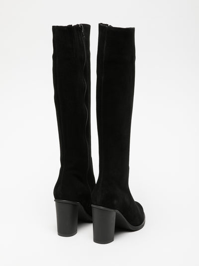 Foreva Black Knee-High Boots