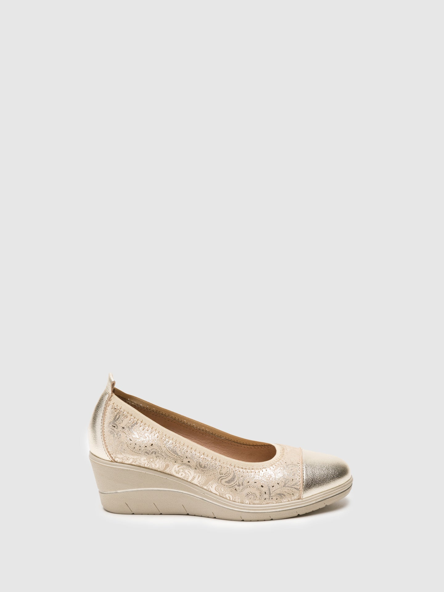 Foreva Gold Wedge Ballerinas
