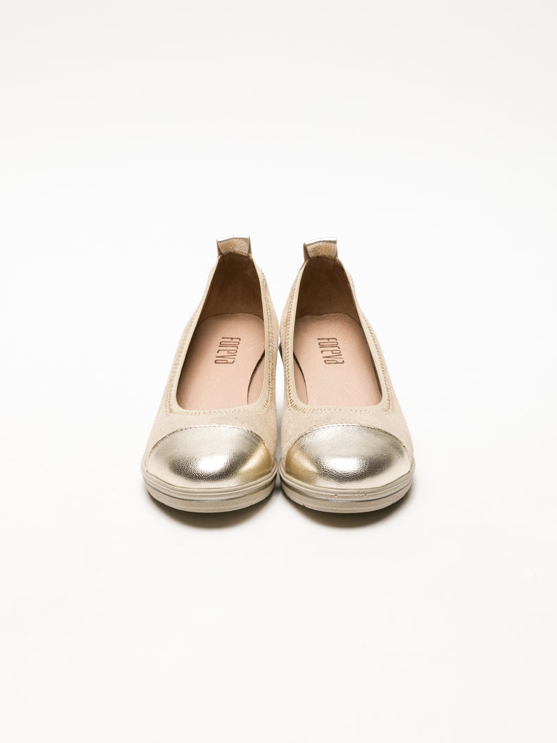 Gold Wedge Ballerinas