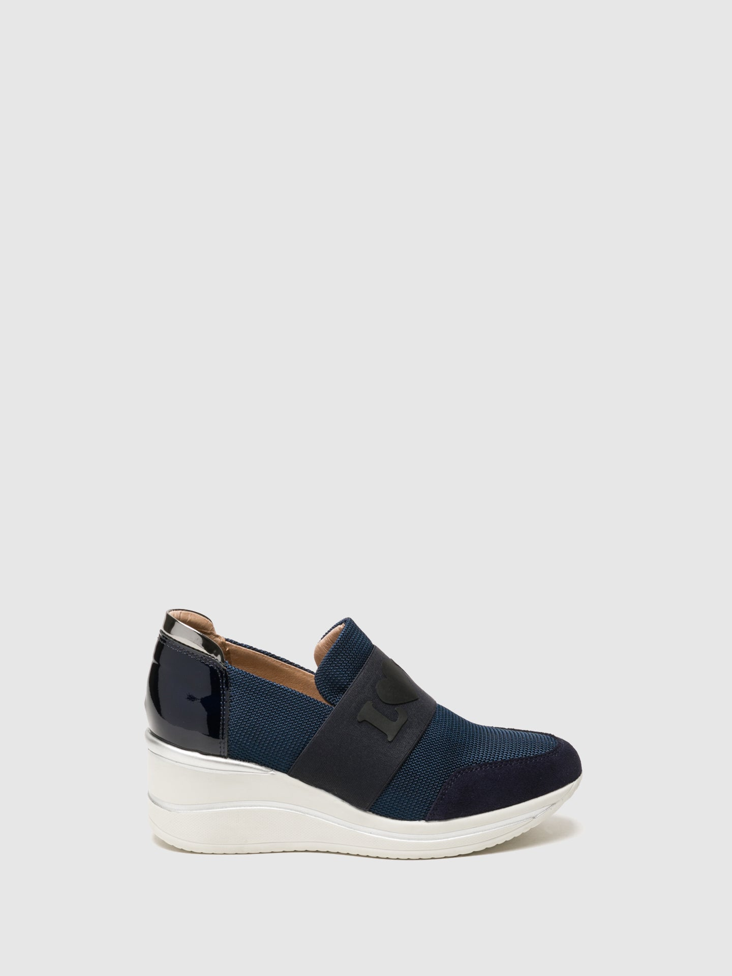 Foreva Navy Wedge Trainers