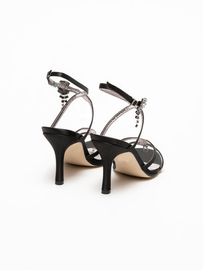 Foreva Black Sling-Back Pumps Sandals