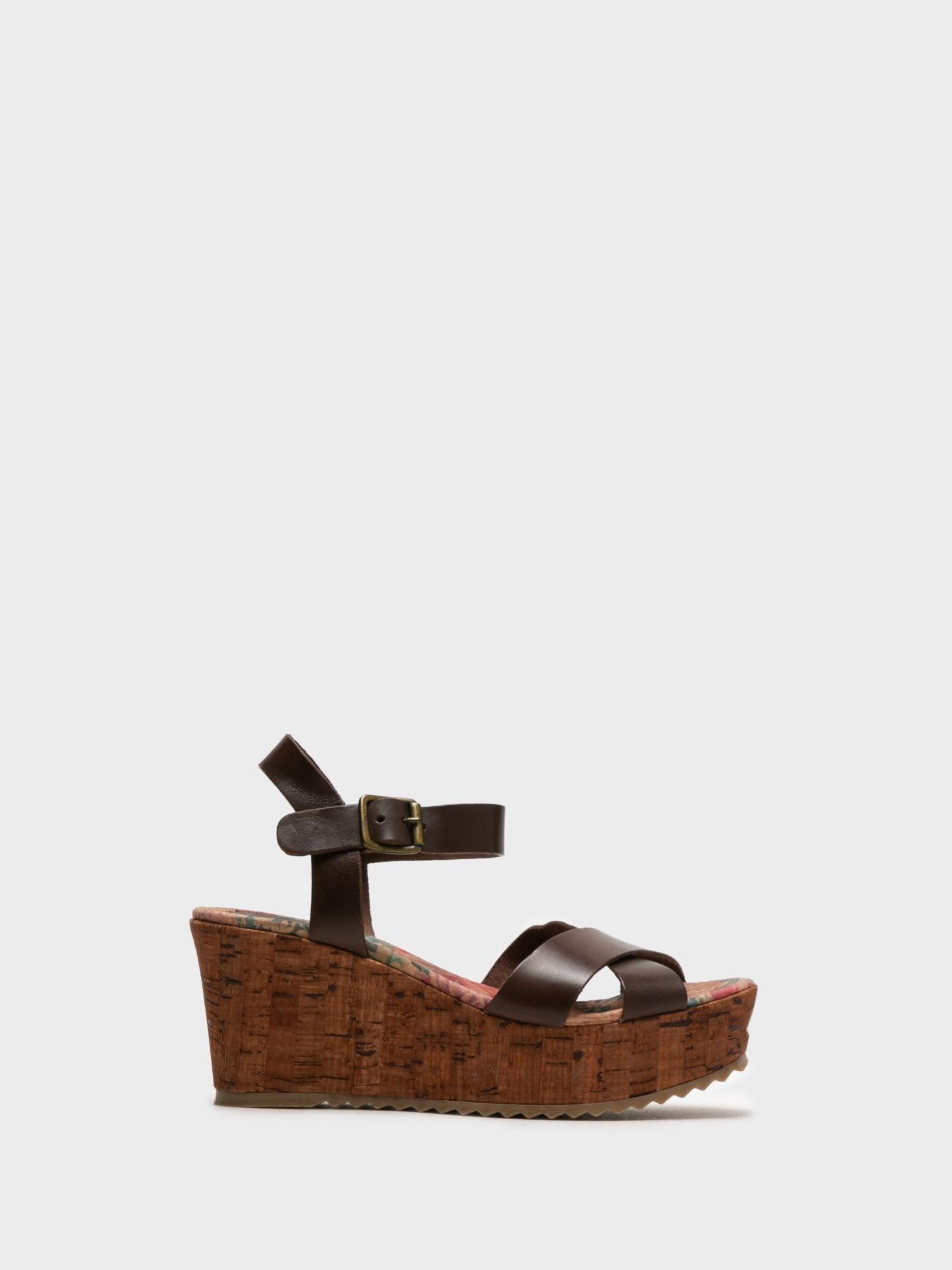 Foreva Maroon Wedge Sandals