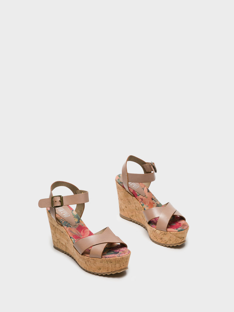 Wheat Wedge Sandals
