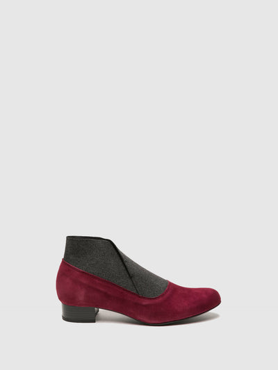 Foreva DarkRed Elasticated Ankle Boots