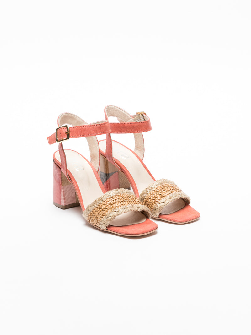 Pink Ankle Strap Sandals
