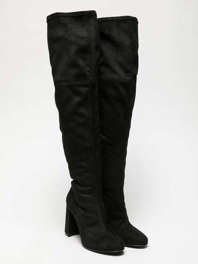 Foreva Black Over the Knee Boots