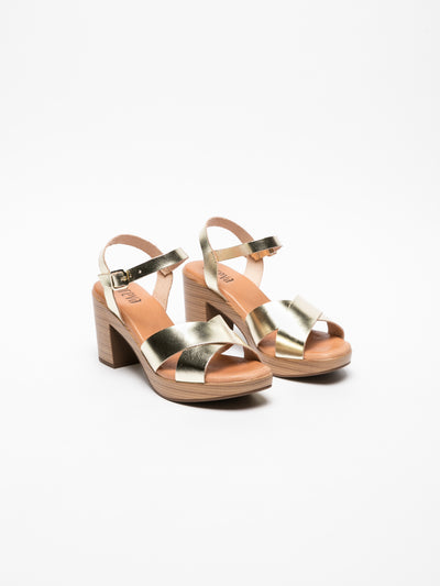 Foreva Gold Sling-Back Sandals