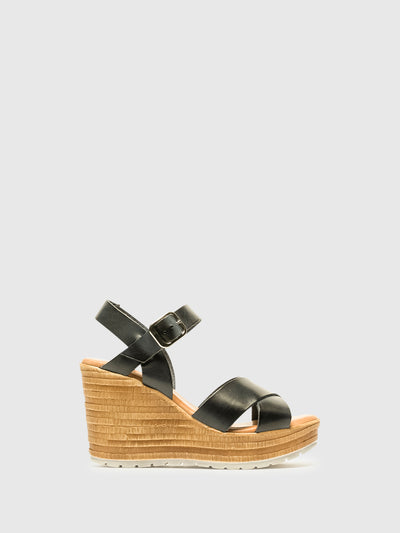 Foreva Blue Wedge Sandals