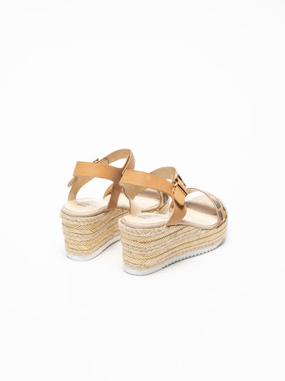 Foreva Beige Wedge Sandals