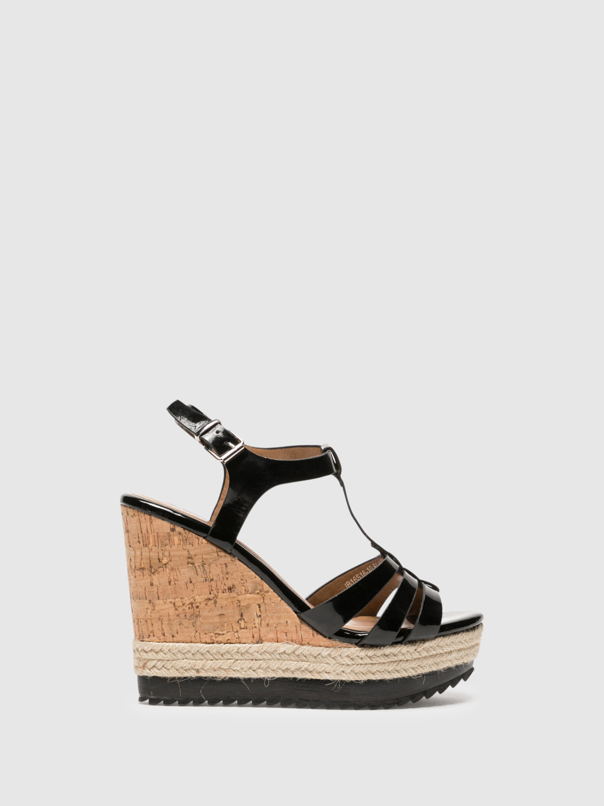 Foreva Black Wedge Sandals