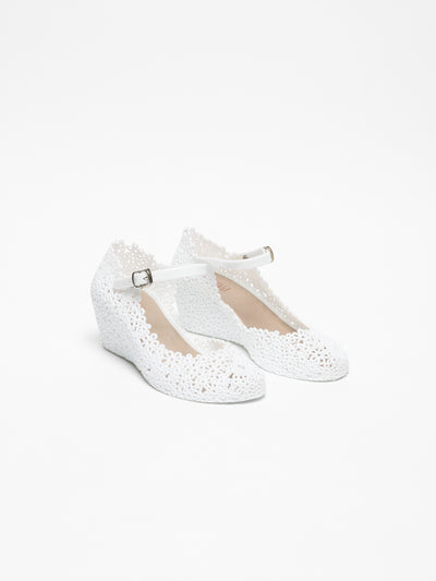 Foreva White Platform Shoes