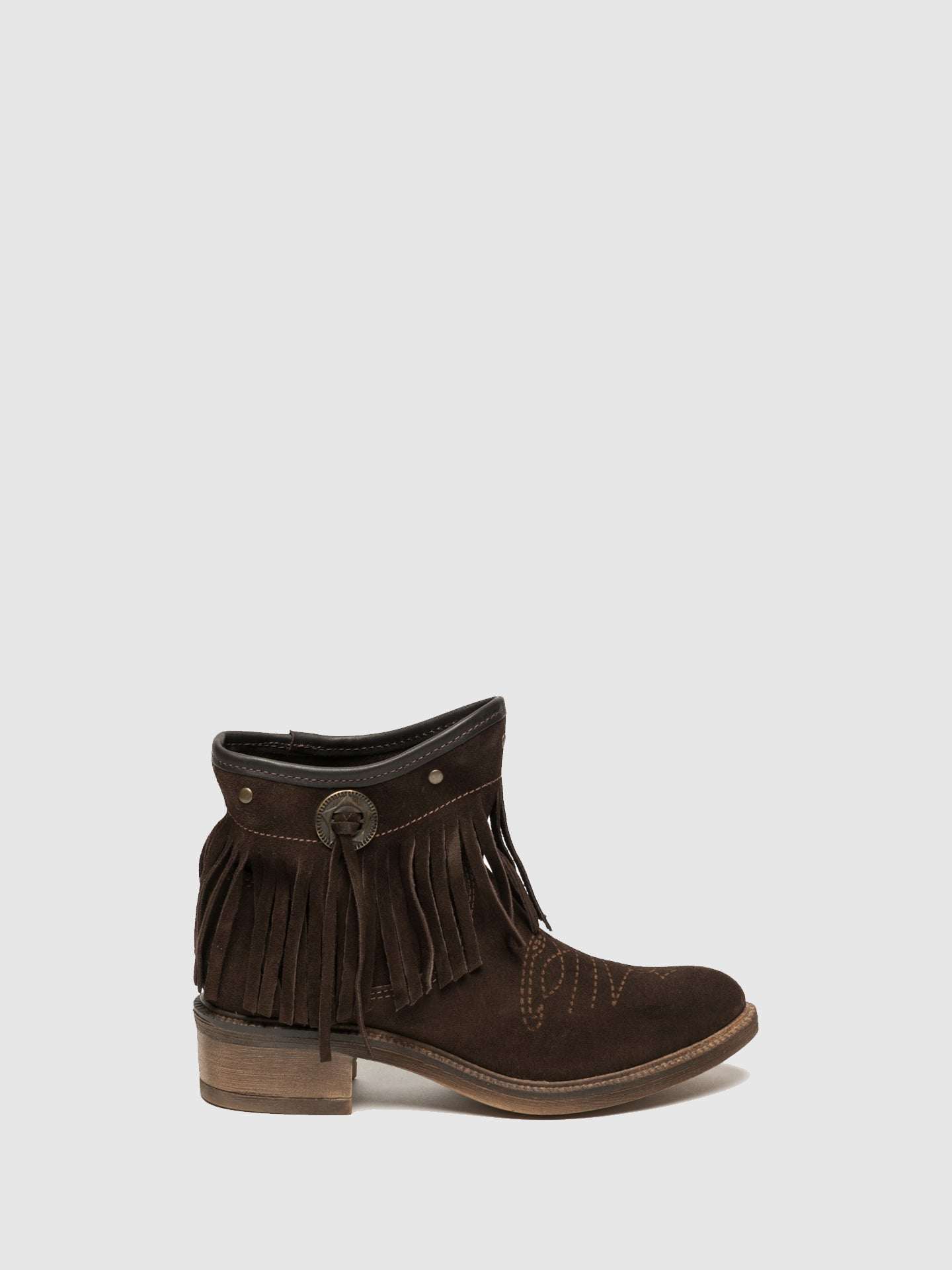 Foreva Brown Fringed Ankle Boots