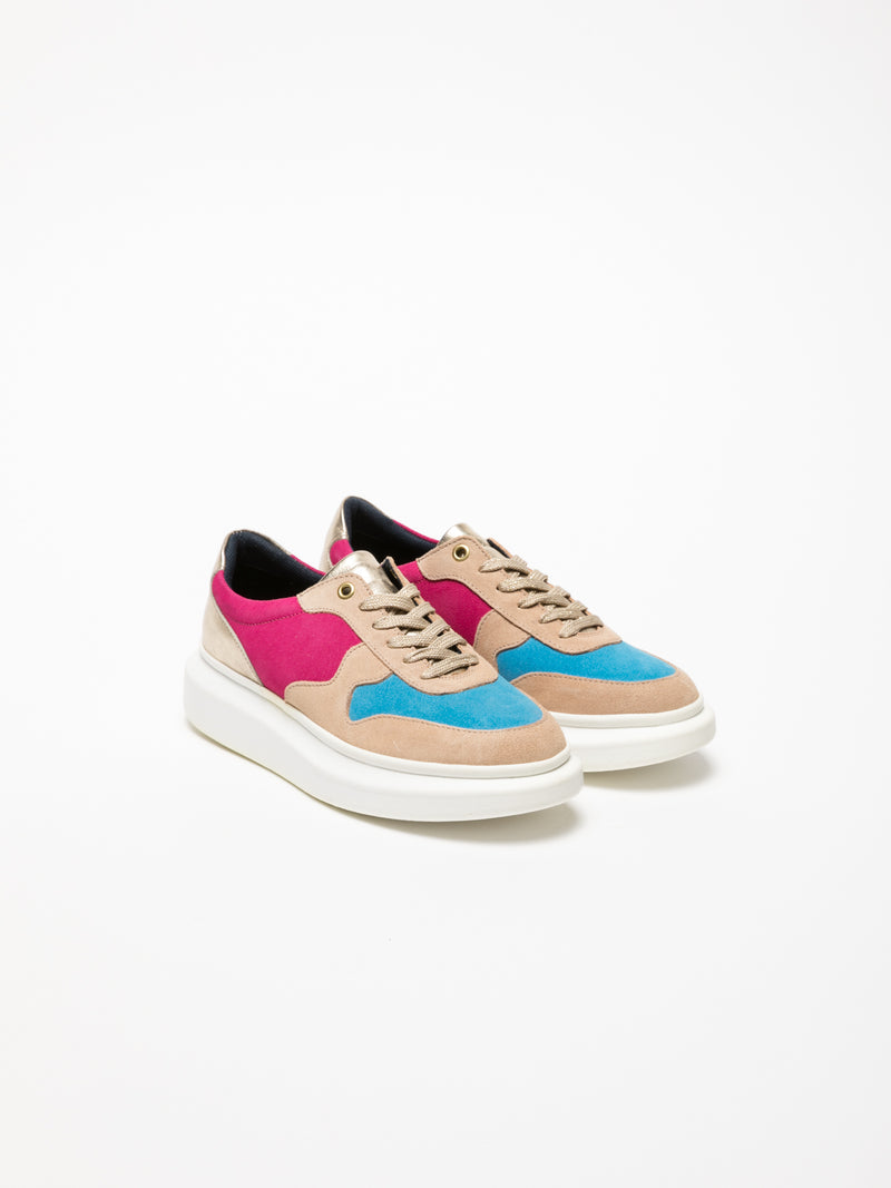 Multicolor Platform Trainers