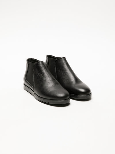 Foreva Coal Black Chelsea Ankle Boots