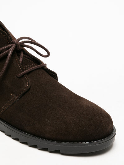 Foreva Brown Lace-up Ankle Boots