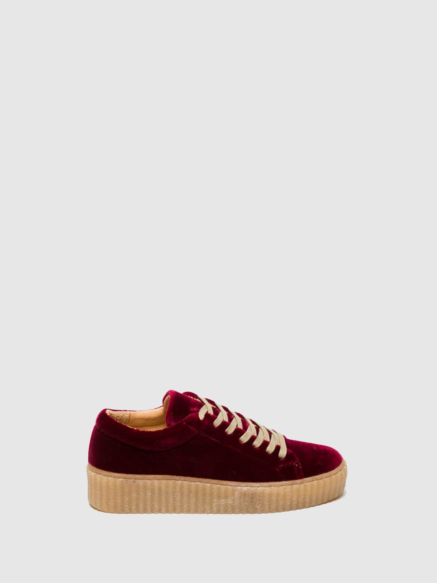 Foreva DarkRed Lace-up Trainers