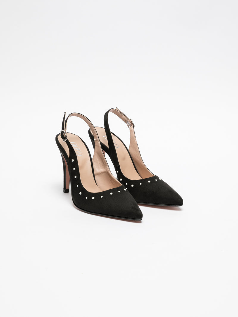 Foreva Black Sling-Back Pumps Shoes