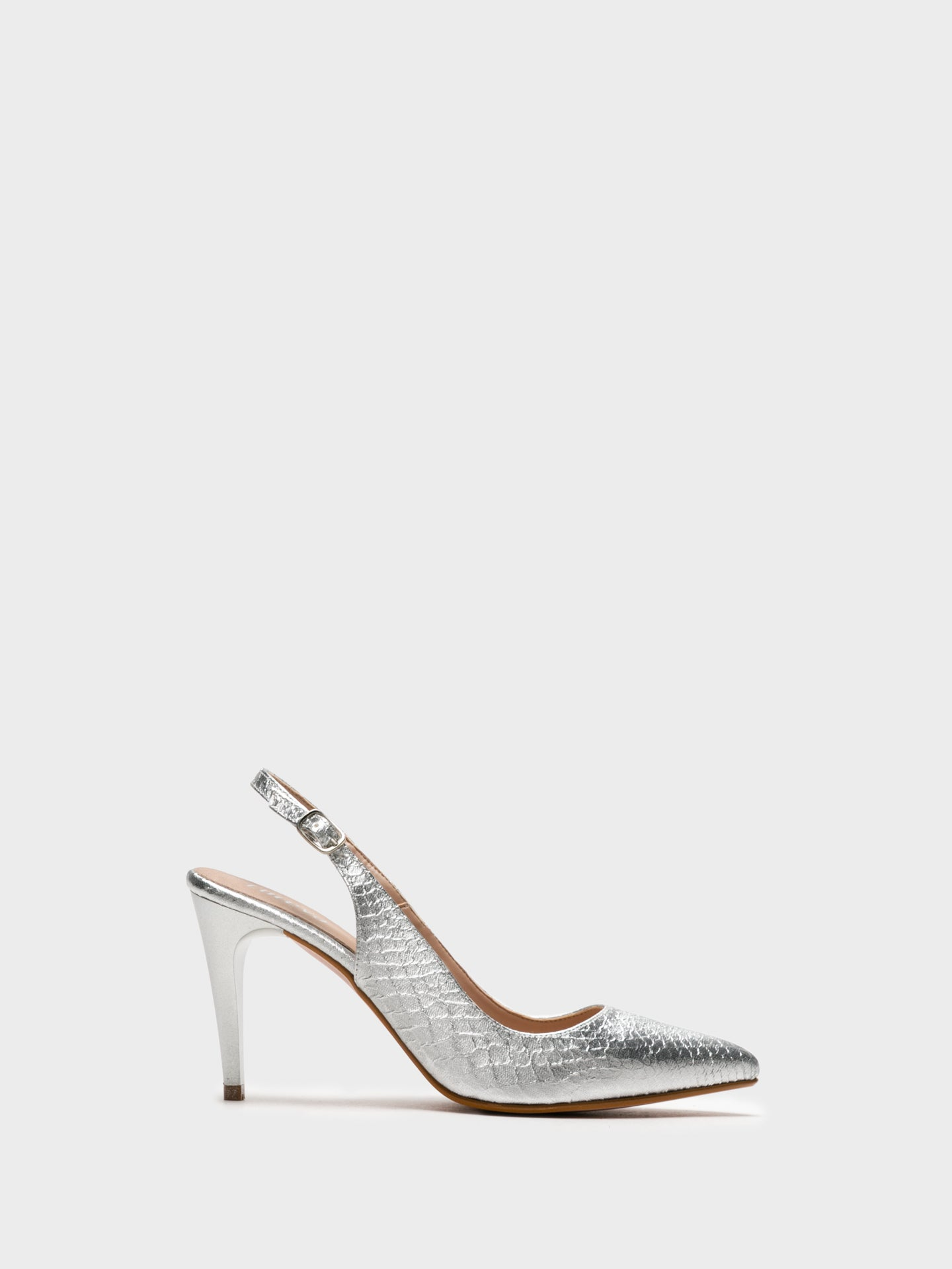 Foreva Silver Sling-Back Pumps Shoes