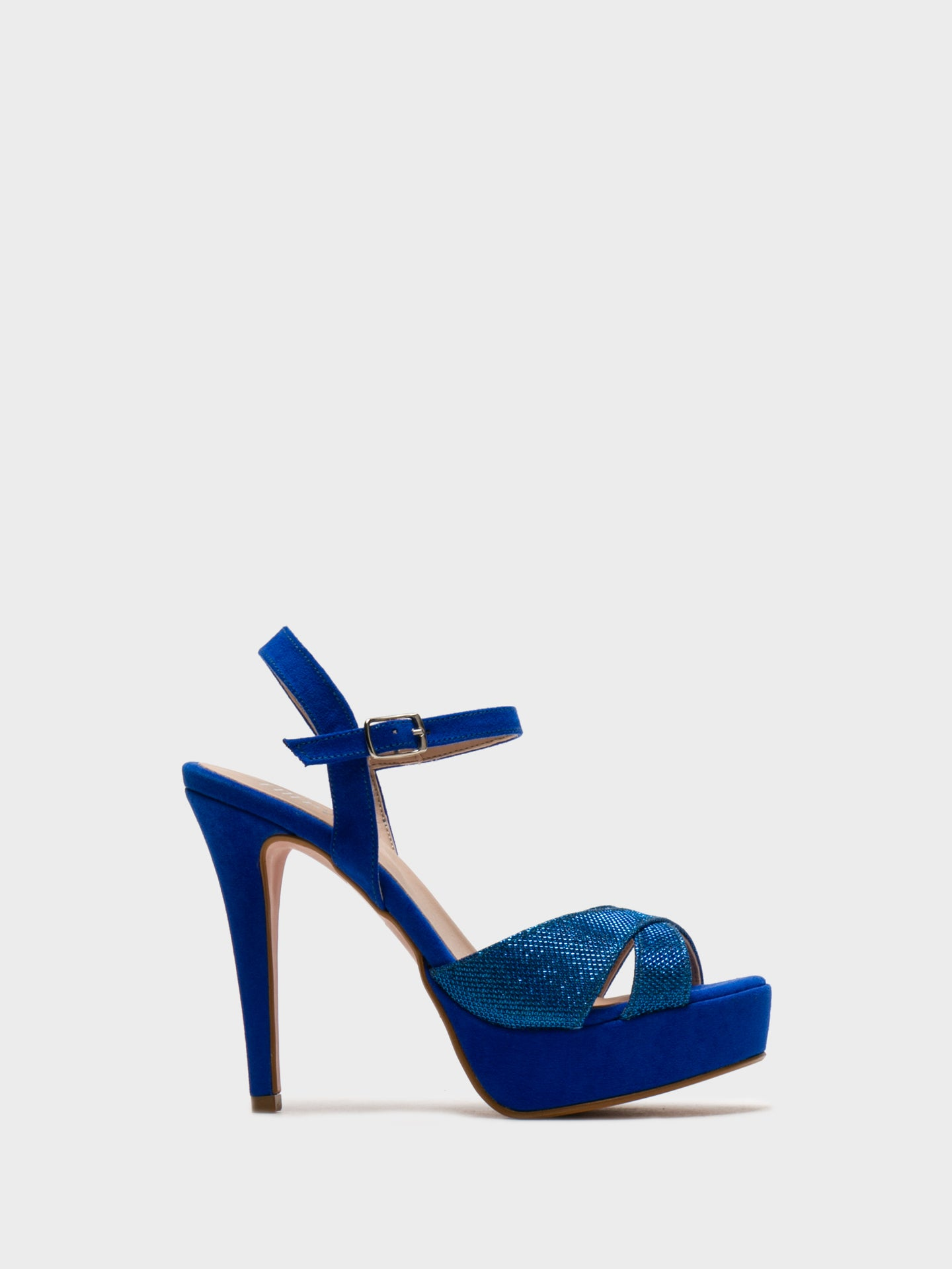Foreva Blue Sling-Back Pumps Sandals