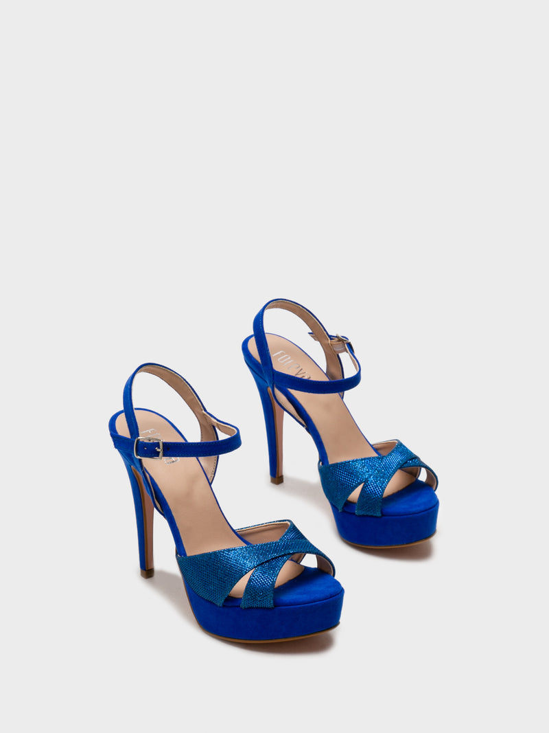 Blue Sling-Back Pumps Sandals