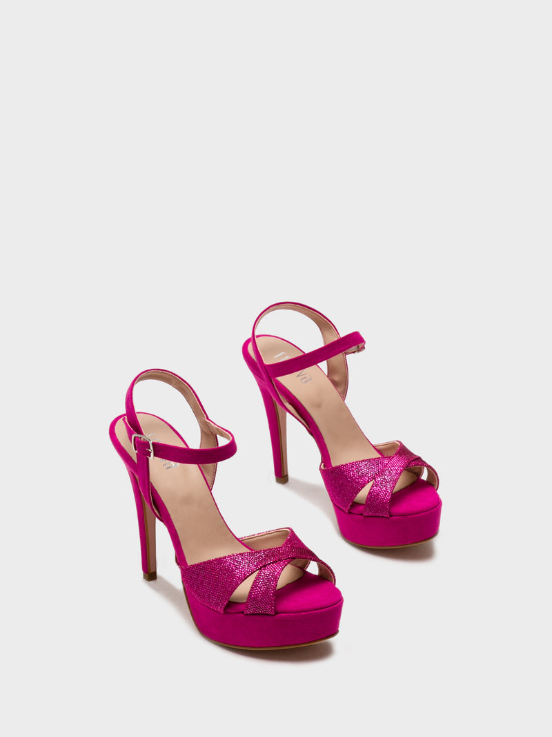 HotPink Sling-Back Pumps Sandals