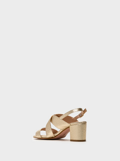 Foreva Gold Crossover Sandals